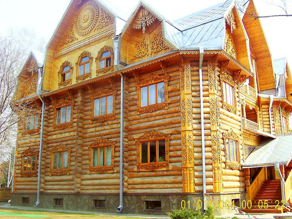 ringing cedars. wood architecture