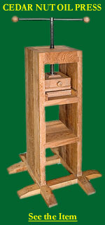 Cedar Nut Oil Press