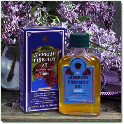 Siberian Pine Nut Oil enriched with resin
